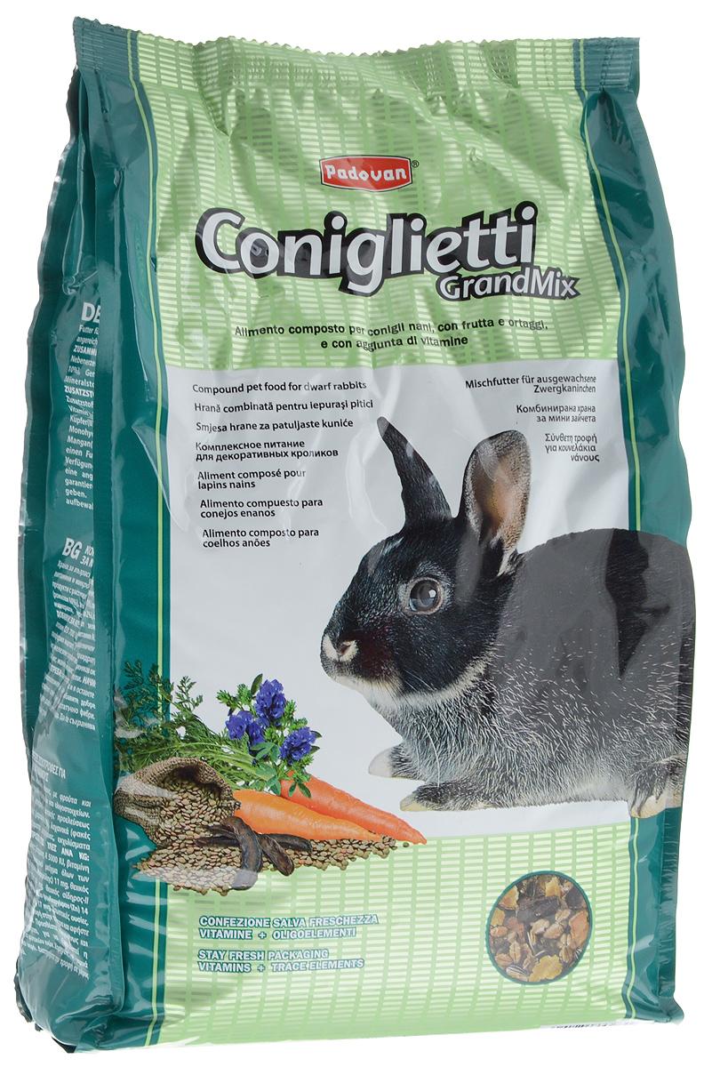 Корм для кроликов Padovan Grandmix Coniglietti, 3 кг16858Padovan Grandmix Coniglietti - комплексный, высококачественный основной корм для кроликов. Обогащен фруктами и овощами, витаминами и минералами. Корм предназначен для повседневного питания кроликов (особенно для кроликов карликовых пород). Питательная смесь из самых лучших злаков позаботится о запасе энергии для вашего любимца на каждый день, а полезные овощи и фрукты подарят все незаменимые витамины и микроэлементы, которые укрепят иммунную систему и помогут всему организму любимца оставаться здоровым и молодым как можно дольше. А природные масла сделают шерстку кролика еще мягче и эластичнее. Товар сертифицирован.