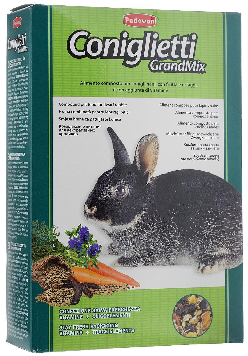Корм для кроликов Padovan Grandmix Coniglietti, 850 г16827Padovan Grandmix Coniglietti - комплексный, высококачественный основной корм для кроликов. Обогащен фруктами и овощами, витаминами и минералами. Корм предназначен для повседневного питания кроликов (особенно для кроликов карликовых пород). Питательная смесь из самых лучших злаков позаботится о запасе энергии для вашего любимца на каждый день, а полезные овощи и фрукты подарят все незаменимые витамины и микроэлементы, которые укрепят иммунную систему и помогут всему организму любимца оставаться здоровым и молодым как можно дольше. А природные масла сделают шерстку кролика еще мягче и эластичнее. Товар сертифицирован.