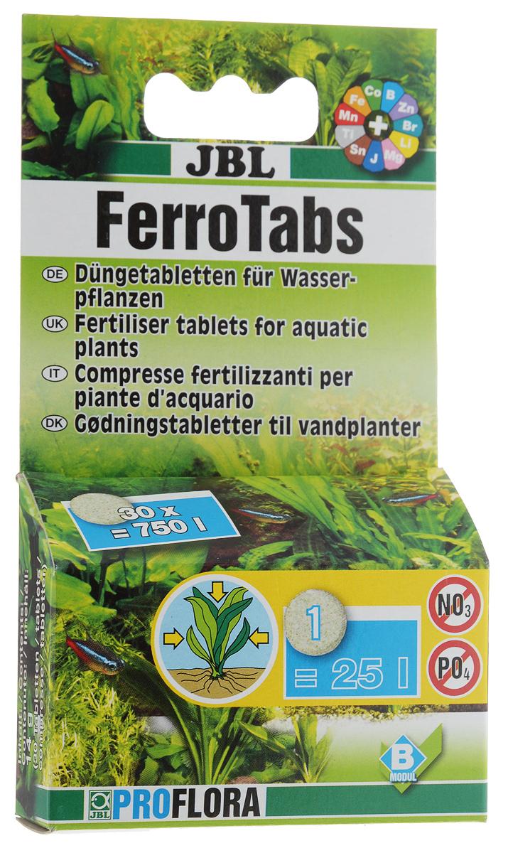 Удобрение для аквариумных растений JBL Ferrotabs, концентрат, 30 таблетокJBL2020000Комплексное удобрение JBL Ferrotabs для усвоения питательных веществ растениями через листья, содержит железо, калий и другие ценные минеральные вещества и микроэлементы в доступной для растений форме. Удобрение не содержит нитратов и фосфатов, способствующих росту водорослей. Способ применения: 1 таблетка на 25 л аквариумной воды через каждые 14 дней. Количество таблеток: 30 шт.