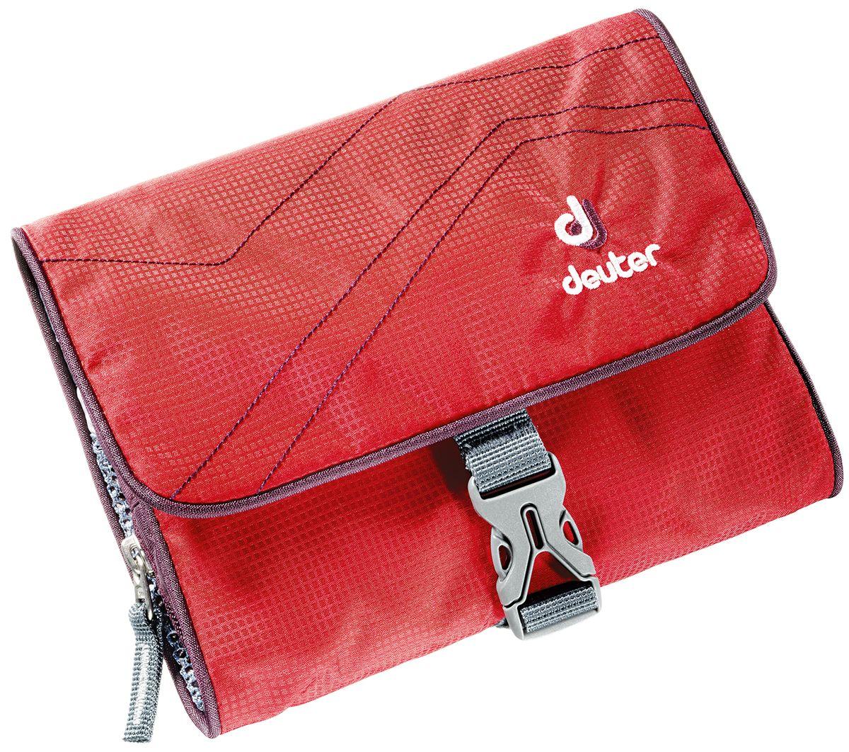 Косметичка Deuter Wash Bag I, цвет: красный, фиолетовый, 16 см x 19 см x 3 см39414_5513Deuter Wash bag I это компактная и лёгкая спортивная сумка для туалетных принадлежностей достаточно просторна, чтобы разместить в ней все аксессуары, необходимые для путешествия. В этом году косметичка получила новый дизайн и цвета. - два сетчатых отделения - один сетчатый карман на молнии - органайзер с петлями из эластичной ленты - пряжки-застёжка - крючок для подвески