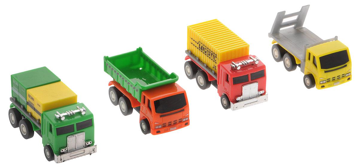 Дрофа-Медиа Набор грузовых машинок 4 шт2826-6FНабор грузовых машинок Дрофа-Медиа понравится детям дошкольного возраста (от 3 лет) и младшего школьного возраста. Играя, они не только интересно проведут свободное время, но и разовьют мелкую моторику рук. С машинками можно не только увлекательно играть, но и коллекционировать, собирая свой автомобильный парк.