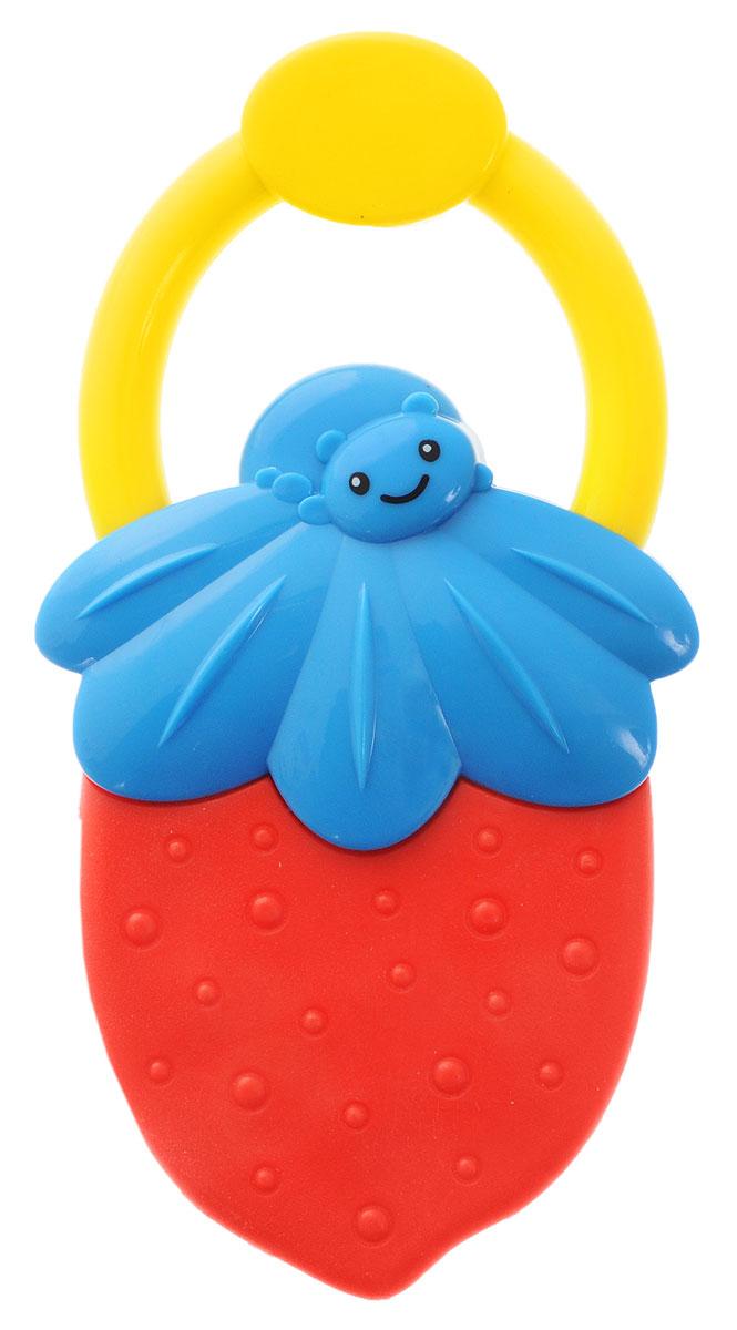 Bondibon Погремушка Ягодка цвет красный синийВВ1483_голубой, красныйПогремушка с прорезывателем Bondibon Ягодка сможет развлечь ребенка дома, на прогулке, в поездке или гостях. Она изготовлена из прочного пластика и выполнена в виде яркой ягодки с небольшим удобным кольцом-держателем. Соприкасающаяся с деснами ребенка поверхность прорезывателя достаточно мягкая, чтобы нечаянно не поранить десны при надавливании, и в меру жесткая для того, чтобы ее пожевать или погрызть во время роста молочных зубов. Погремушка специально разработана с учетом особенностей строения ручек малыша и не будет скользить. Яркие цвета и звуки, которые издает игрушка, развивают слуховое и зрительное восприятие, пространственное мышление и тактильные ощущения.
