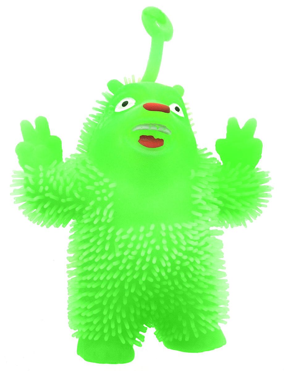 1TOY Игрушка-антистресс Ё-Ёжик Медвежонок-хиппи цвет салатовыйТ58186_салатовыйМедвежонок-хиппи 1TOY Ё-Ёжик - это яркая игрушка-антистресс - мягкая, приятная на ощупь и напоминающая свернувшегося ежика. Взяв игрушку в руки, расстаться с ней просто невозможно! Ее не только приятно держать в руках, если перекинуть игрушку из руки в руку, она начнет мигать цветными огоньками. Игрушка синего цвета в виде забавного медведя с петлей-тянучкой и короткими мягкими колючками понравится всем без исключения. Данная игрушка рассчитана на широкую целевую аудиторию, как на детей от трех лет, так и взрослых. Ё-Ёжик обязательно станет самым любимым забавным сувениром.
