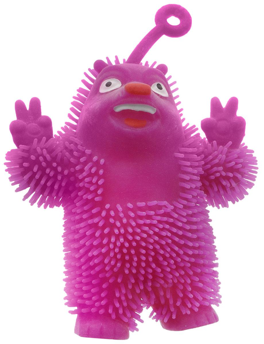 1TOY Игрушка-антистресс Ё-Ёжик Медвежонок-хиппи цвет фиолетовыйТ58186_фиолетовыйМедвежонок-хиппи 1TOY Ё-Ёжик - это яркая игрушка-антистресс - мягкая, приятная на ощупь и напоминающая свернувшегося ежика. Взяв игрушку в руки, расстаться с ней просто невозможно! Ее не только приятно держать в руках, если перекинуть игрушку из руки в руку, она начнет мигать цветными огоньками. Игрушка синего цвета в виде забавного медведя с петлей-тянучкой и короткими мягкими колючками понравится всем без исключения. Данная игрушка рассчитана на широкую целевую аудиторию, как на детей от трех лет, так и взрослых. Ё-Ёжик обязательно станет самым любимым забавным сувениром.
