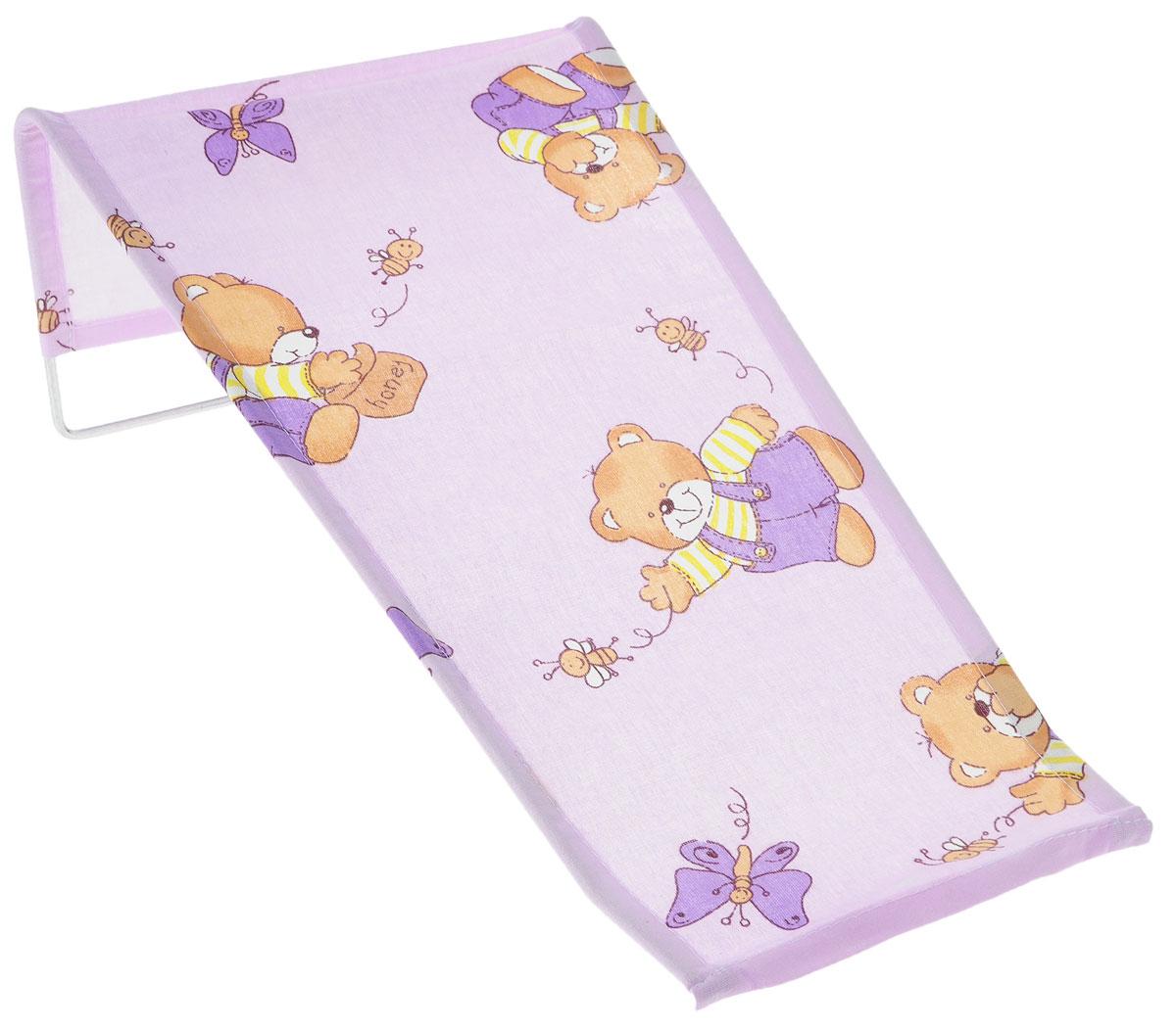 Фея Подставка для купания Мишка и пчелка цвет сиреневый 1332-01_мишка и пчелка/сиреневый