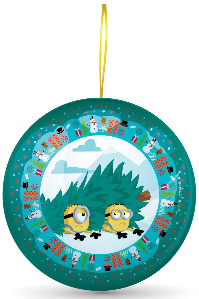 Сладкая Сказка Миньоны зеленый подарочный шар с сюрпризом, 18 г