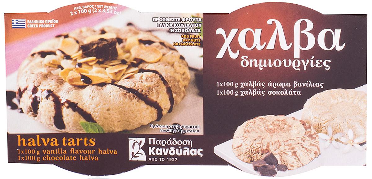 Kandylas халва ваниль-шоколад, 2 шт по 100 г