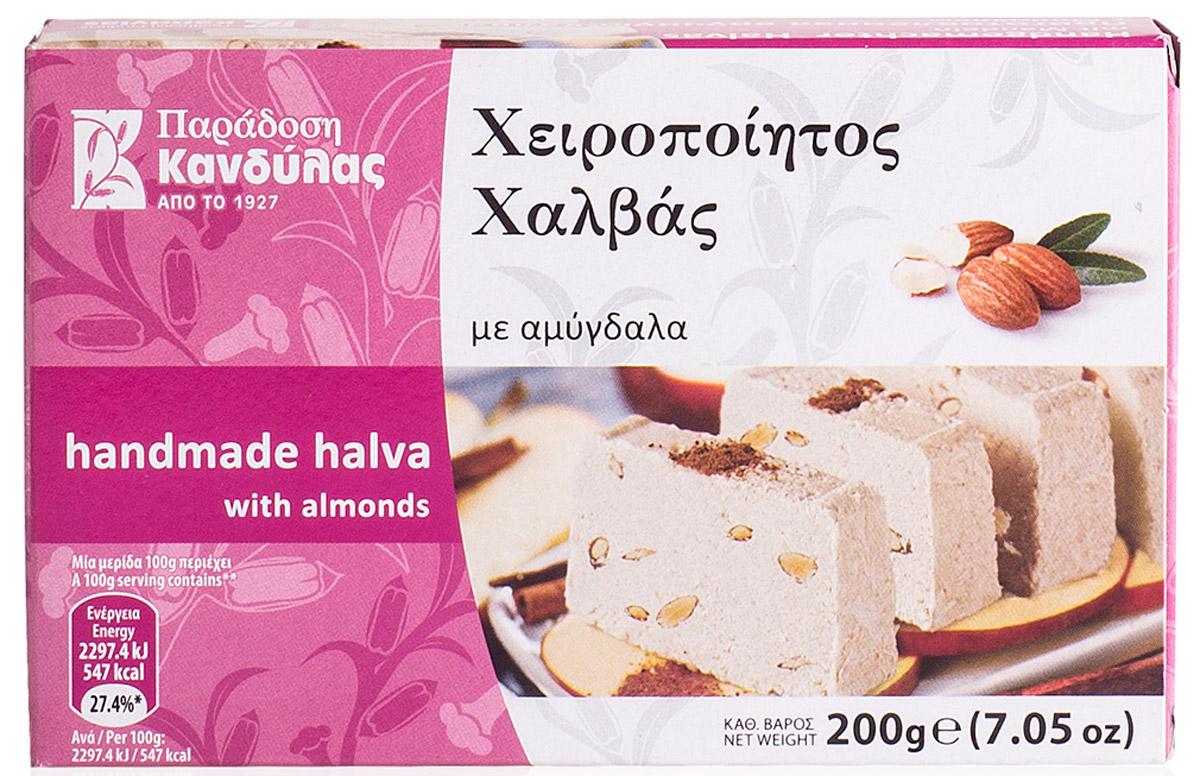 Kandylas халва с миндалем, 200 г13.0025Греческие сладости - халва кунжутная с миндалем.