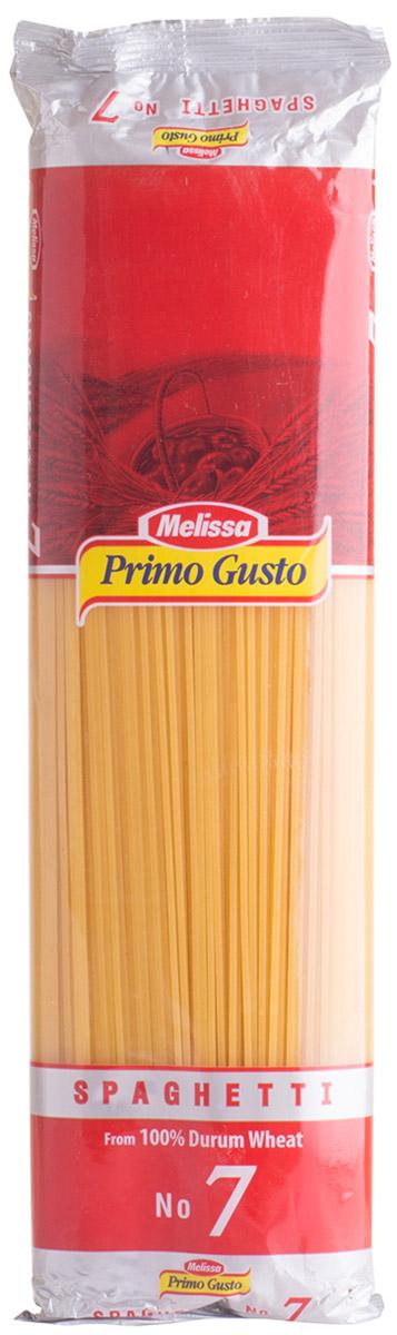 Melissa-Primo Gusto спагетти №7, 500 г14.0000Макаронные изделия Melissa Primo Gusto производятся исключительно из семолины - муки твердых сортов пшеницы специального (грубого) помола. Семолина используется для приготовления пасты, каши, пудингов и кускуса.