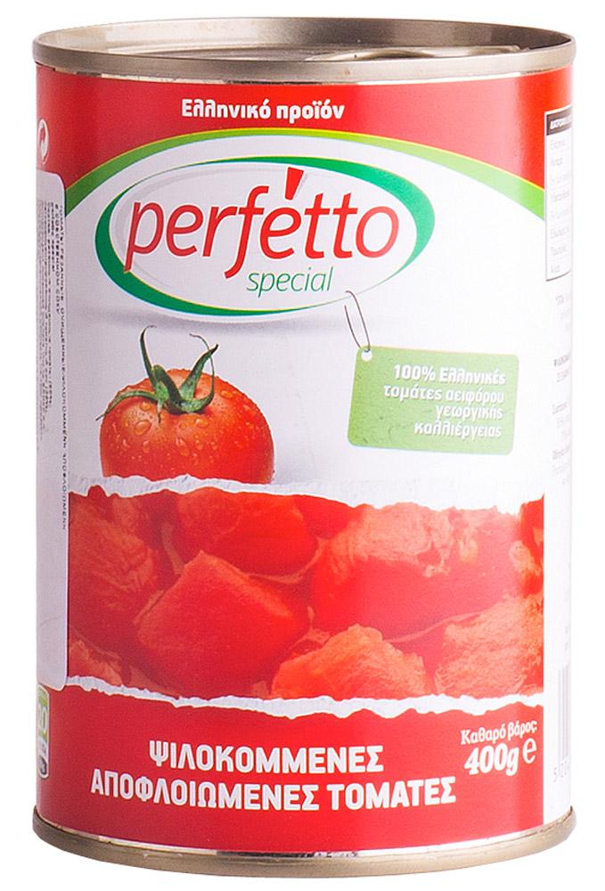 Perfetto specia Томаты резанные очищенные в собственном соку, 400 г41.0006,1