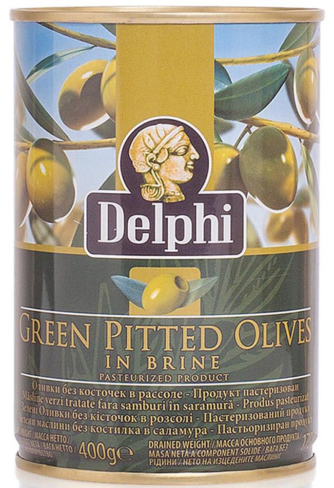 Delphi Оливки без косточек в рассоле Superior 261-290, 400 г