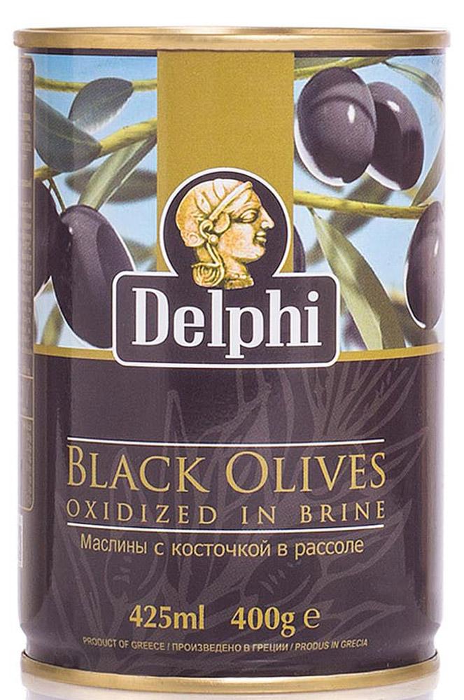 Delphi Маслины с косточкой в рассоле Superior 261-290, 400 г