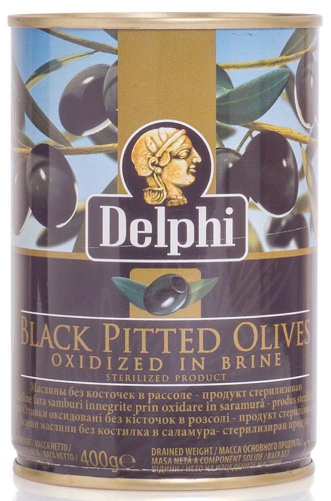 Delphi Маслины без косточек в рассоле Superior 261-290, 400 г
