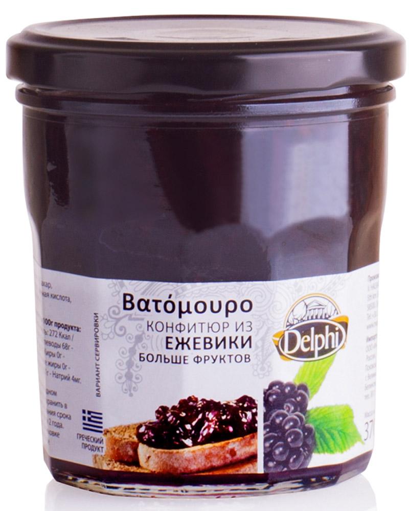 Delphi Конфитюр из ежевики V. Halvatzis, 370 г63.0005Конфитюр из свежих ягод ежевики - это истинная сладость и наслаждение. Продукт не содержит искусственных красителей и ГМО.