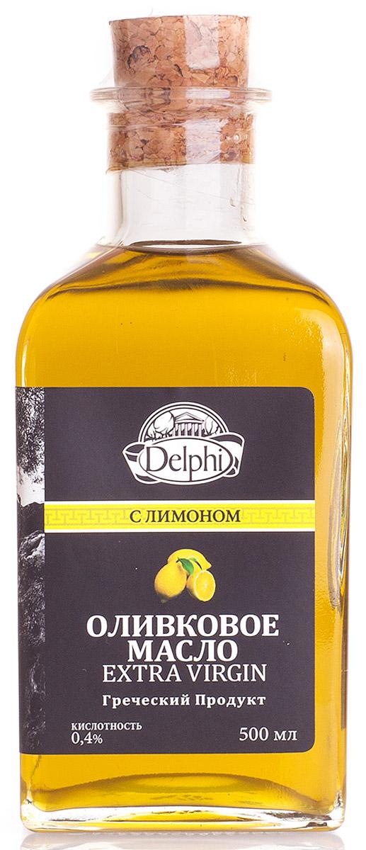 Delphi масло оливковое Extra virgin с лимоном, 500 мл