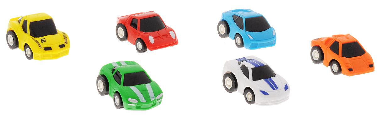 Дрофа-Медиа Набор инерционных машинок Гоночные машины 6 шт2837DНабор инерционных машинок Дрофа-Медиа Гоночные машины понравятся детям дошкольного и младшего школьного возраста. В набор входит 6 разноцветных мини-гоночных машинок: зеленая, голубая, белая, красная, желтая и оранжевая. Чтобы машинки рванули с места, их нужно всего лишь немного оттянуть назад. Играя с ними, ваш ребенок не только интересно проведет свободное время, но и будет развивать мелкую моторику рук. Ведь с ними можно не только увлекательно играть, но и коллекционировать, собирая свой автомобильный парк.