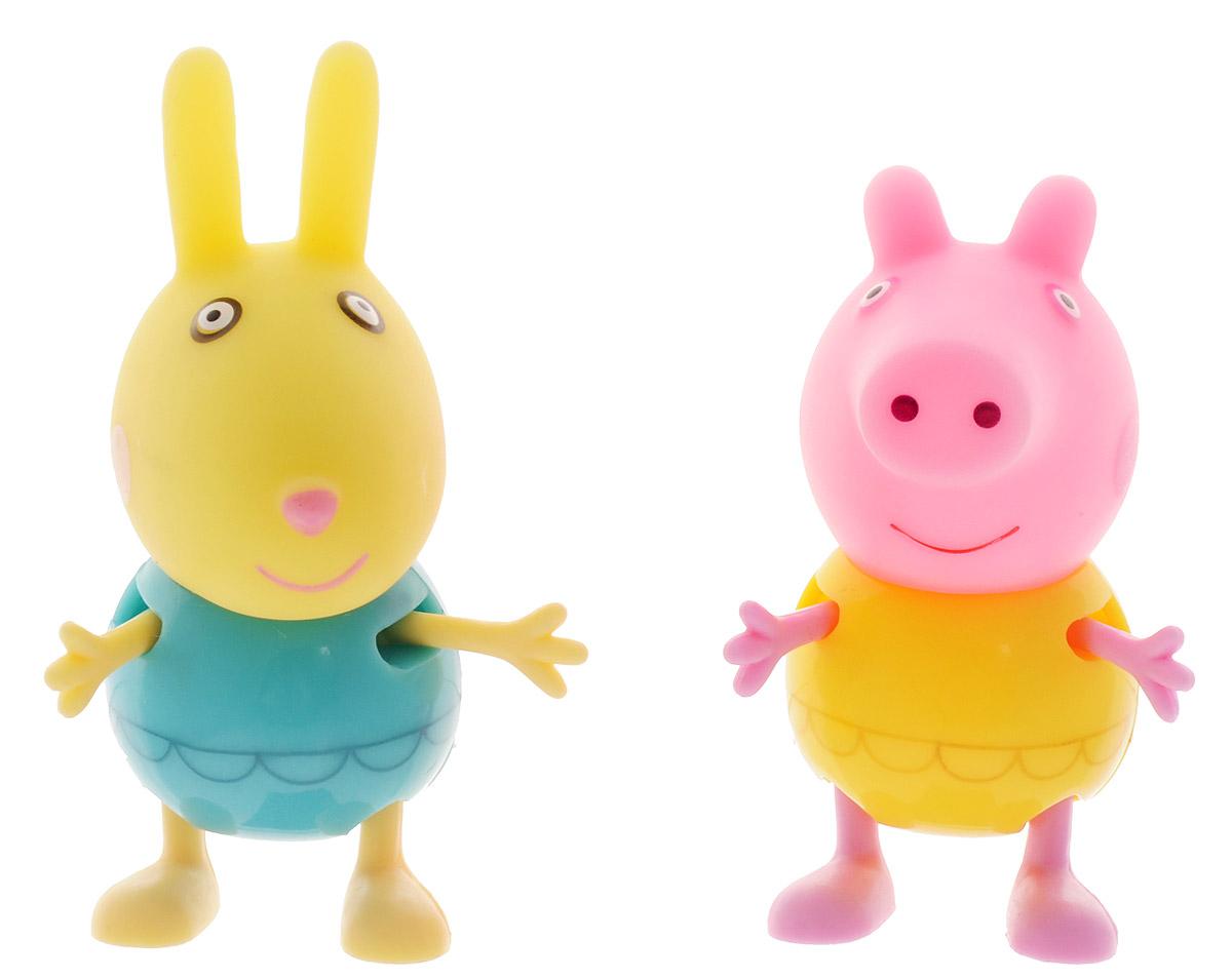 Peppa Pig Набор фигурок Пеппа и кролик Ребекка30627_Пеппа и кролик РебеккаНабор фигурок Peppa Pig Пеппа и кролик Ребекка станет замечательным подарком для каждого поклонника мультфильма Свинка Пеппа. В наборе фигурка Пеппы и фигурка Ребекки. Ручки и ножки фигурок двигаются. С такими фигурками малыш сможет увлеченно играть и дома, и на улице, и даже в ванне. Яркая окраска фигурок улучшает цветовое восприятие ребенка, а приятная на ощупь поверхность развивает тактильные ощущения. Порадуйте свое драгоценное чадо столь интересным и развлекательным подарком.