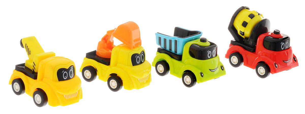 Дрофа-Медиа Набор инерционных машинок 4 шт2833BНабор инерционных машинок Дрофа-Медиа понравятся детям дошкольного и младшего школьного возраста. В набор входят 4 ярких машинки: бетономешалка, грузовик, грузоподъемник и автоэкскаватор. Чтобы машинки рванули с места, их нужно всего лишь немного оттянуть назад. Играя с ними, ваш ребенок не только интересно проведет свободное время, но и будет развивать мелкую моторику рук. Ведь с ними можно не только увлекательно играть, но и коллекционировать, собирая свой автомобильный парк.