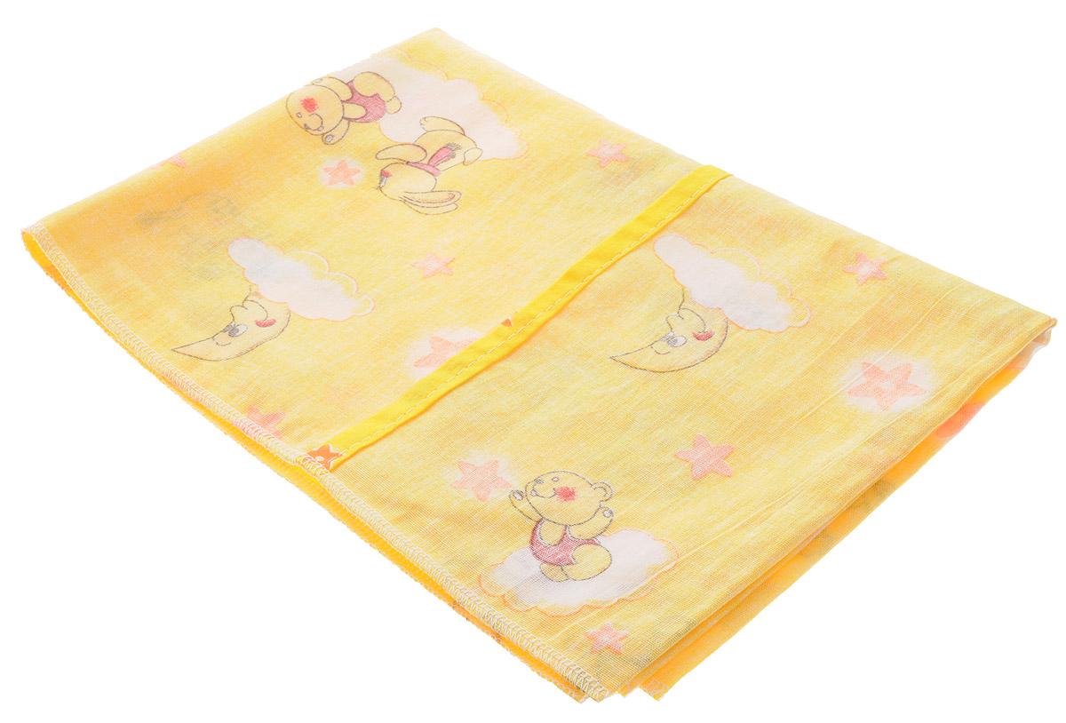 Фея Наволочка детская Мишки цвет желтый 40 см х 60 см