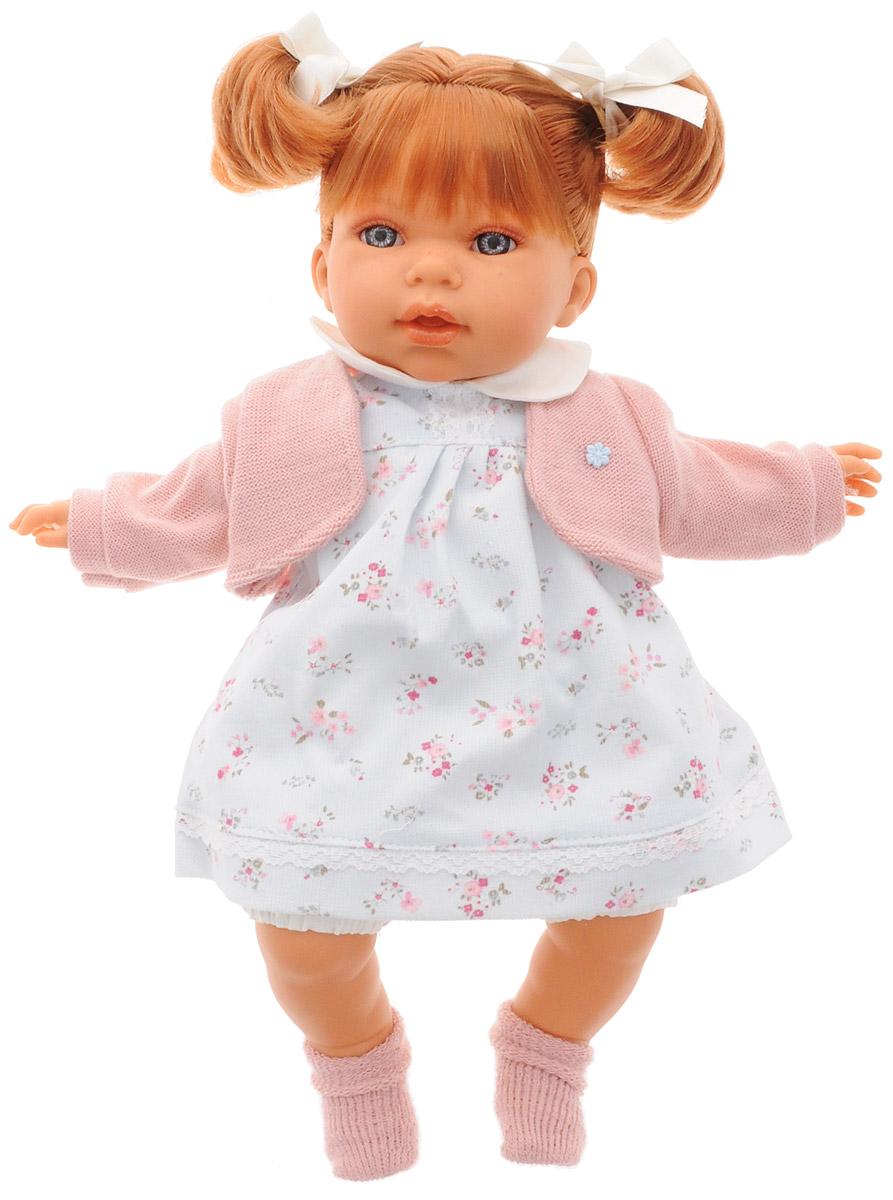 Munecas Antonio Juan Пупс озвученный Лорена1558WПупс озвученный Munecas Antonio Juan Лорена порадует вашу малышку и подарит массу положительных эмоций. Кукла выполнена с анатомической точностью и выглядит совсем как настоящий малыш. Ручки, ножки и голова куклы подвижны и изготовлены из высококачественного винила. Тело мягконабивное. Лорена одета в нежно-голубое платье в цветочек и розовую кофточку. На ножках - теплые розовые носочки. На голове куклы завязаны два хвостика. Красивые глаза, длинные ресницы, челка и пухлые щечки - все это придает кукле невероятную реалистичность. Кукла озвученная. Нажмите на животик Лорене один раз - и она засмеется, второй раз - скажет мама, третий раз - скажет папа. Игра с куклой учит детей проявлять заботу, доброту и выражать свои чувства. Munecas Antonio Juan - это бренд с многолетней историей! Образы малышей разработаны известными европейскими дизайнерами. Куклы производятся в Испании, отливаются из очень мягкого винила, что в сочетании с анатомически точным лицом и телом...