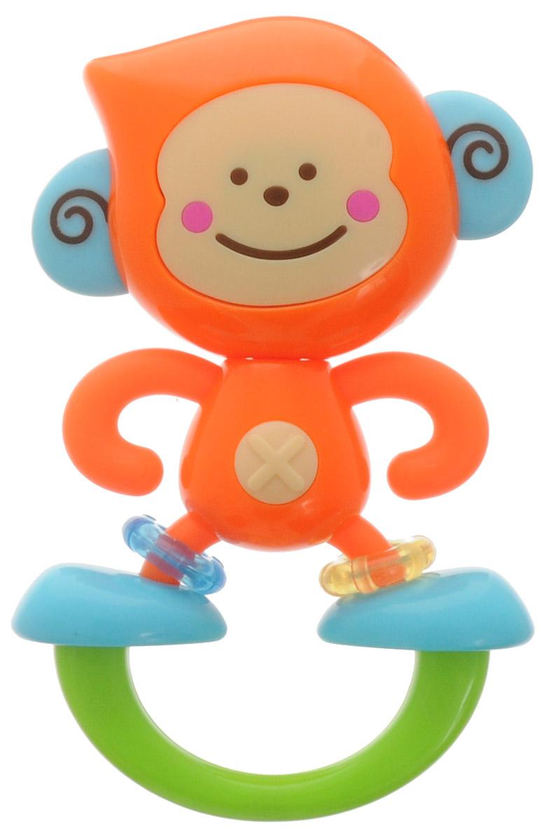 B kids Прорезыватель Веселая обезьянка004887BИгрушка Веселая обезьянка - первый спутник малыша. Дружелюбная мартышка выполнена в приятной цветовой гамме из безопасного пластика. Она легко моется, ее удобно грызть. На ножках обезьянки есть небольшие колечки голубого и желтого цвета. Их можно крутить и передвигать, это занимает малышей. Эргономичная форма - еще один повод выбрать эту игрушку в качестве прорезывателя: благодаря специально разработанному дизайну ее очень удобно грызть маленьким ротиком. Это понадобится, когда у малыша начнут резаться зубы. Игрушка B kids поможет ребенку в развитии цветового и звукового восприятия, мелкой моторики рук и координации движений. Такую игрушку можно предложить ребенку с рождения.