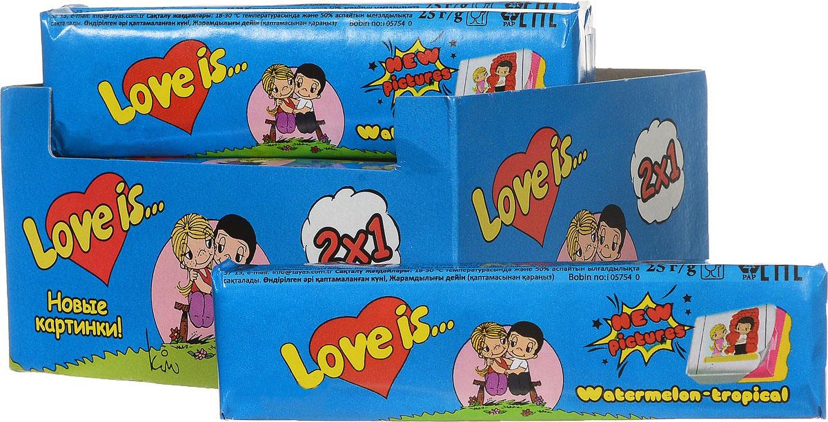 Love is Арбуз-тропик жевательные конфеты, 12 шт