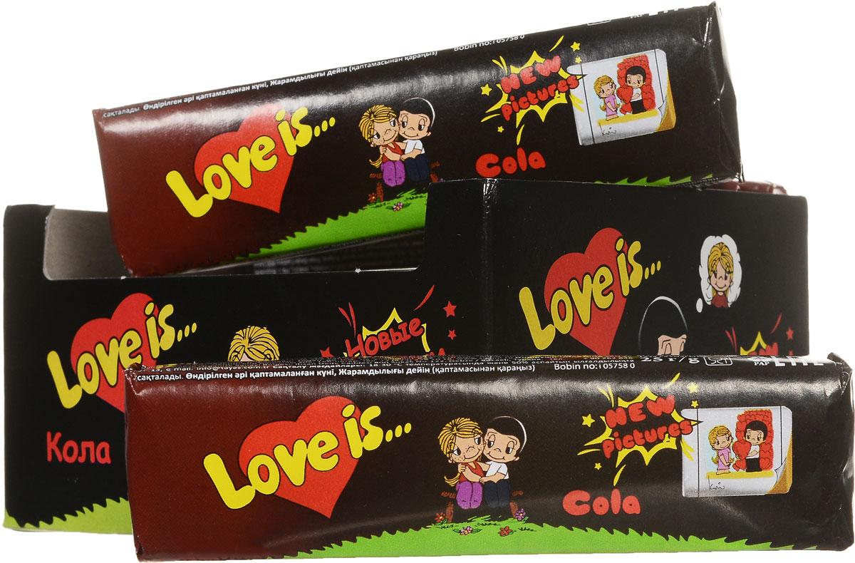Love is Кола жевательные конфеты, 12 шт70294Жевательная конфета Кола от Love Is удивит любимых не только вкусом. Приятным сюрпризом будут вкладыши новой серии с героями комикса Love Is. В каждой конфете их пять!