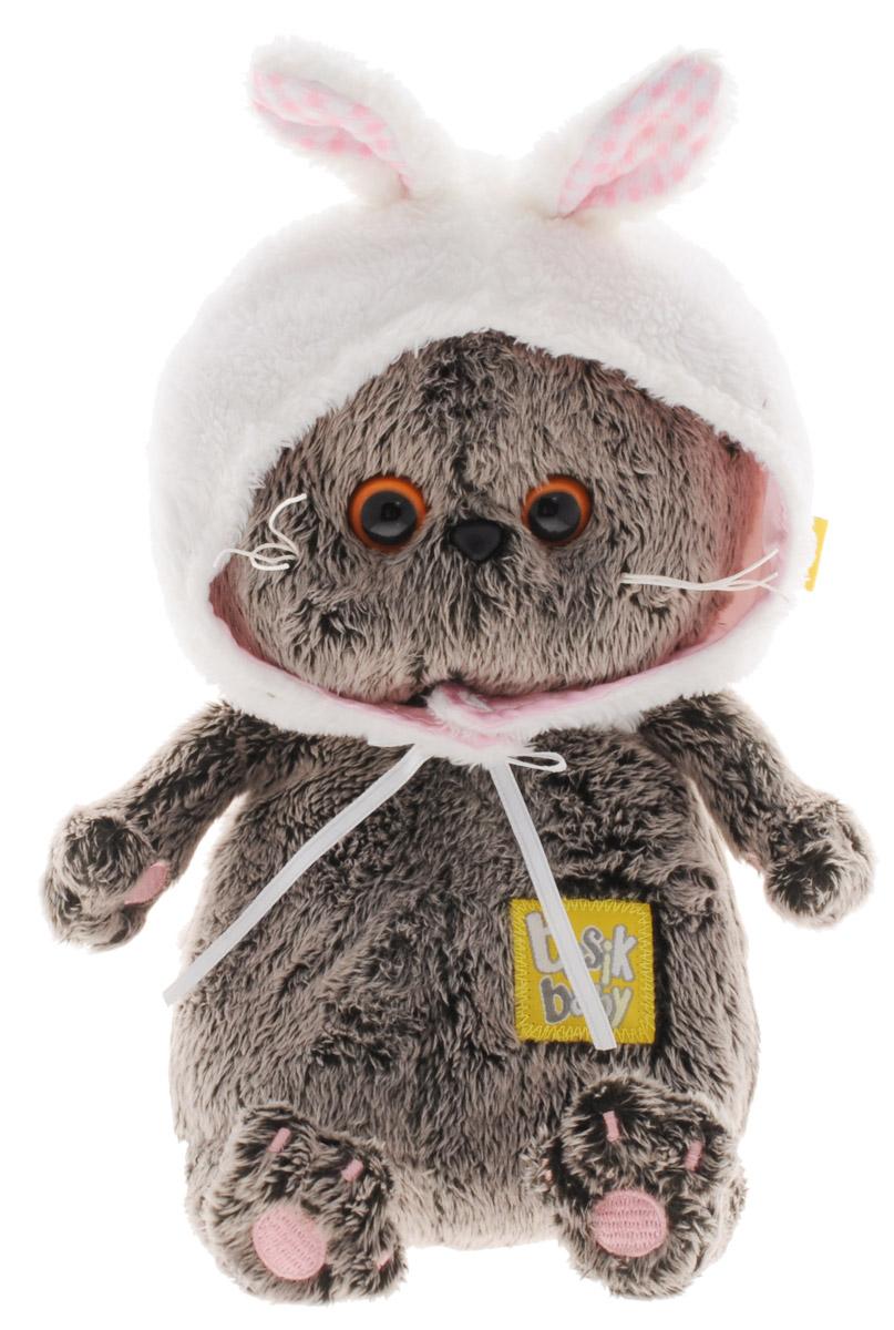 Мягкая игрушка Басик Baby в шапке-зайка 20 смBB-014Мягкая игрушка Басик Baby в шапке-зайка подарит малышу немало прекрасных мгновений. Дети очень трепетно относятся к домашним животным, особенно они любят котов и собак и часто просят своих родителей приобрести им такого друга. Однако домашние питомцы не всегда хорошо влияют на детей - они могут поцарапать и даже вызвать аллергическую реакцию, поэтому приходят на помощь мягкие игрушки, очень похожие на настоящих питомцев. С этим шотландским вислоухим котиком можно играть, отдыхать и засыпать в обнимку, рассказывая свои секреты. У него густая плюшевая шерстка, которую так приятно гладить. У Басика круглые медовые глазки, маленькие ушки и черный носик. Малыш Басик изо всех своих кошачьих сил готовится к Новому году. Будет Новогодняя елка. Басика уже пригласили, предупредив, что все мальчики на елке будут зайчиками, а девочки - снежинками. Басика заинтересовал образ зайца. Что он любит? Что ест? Дружит ли с котами? Басик изучил вопрос досконально. Выяснил, что зайцы, как и коты,...