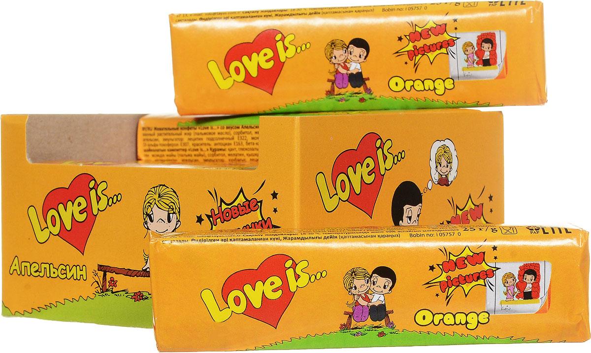 Love is Апельсин жевательные конфеты, 12 шт70293Love is Апельсин - это ириски-стики с нежным апельсиновым вкусом. В каждой конфете содержится 5 вкладышей с героями Love is. Блок из 12 конфет - отличный подарок или сюрприз для любимых.