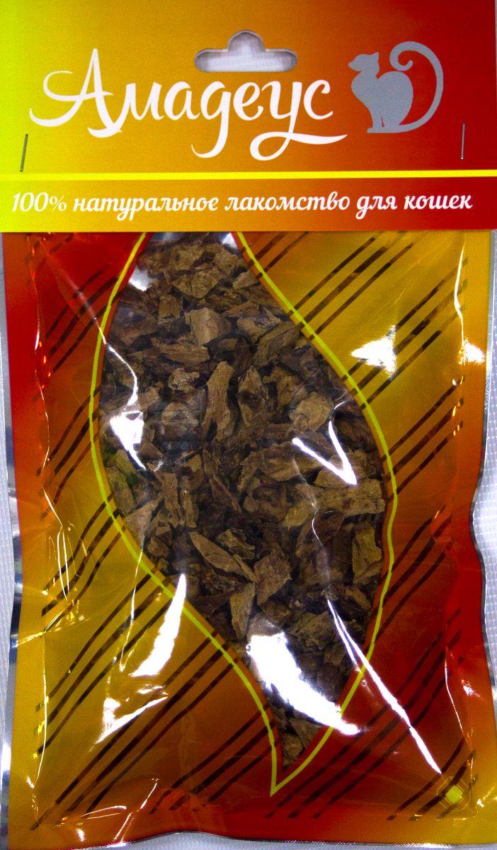 Лакомство для кошек Амадеус Легкое говяжье, 50 г58544Лакомство для кошек Амадеус Легкое говяжье - 100% натуральный продукт почти без запаха, а также без содержания химических добавок. При сушке не использовались отбеливатели и консерванты. Лакомство изготавливается из тщательно отобранного и проверенного высококачественного отечественного сырья. Содержит низкокалорийный, легкоусвояемый, гипоаллергенный белок. Продукт богат витаминами и ферментами микрофлоры желудка жвачных животных. Рекомендовано для профилактики витаминного и ферментного дефицита у собак и кошек всех пород и возрастов. Товар сертифицирован.