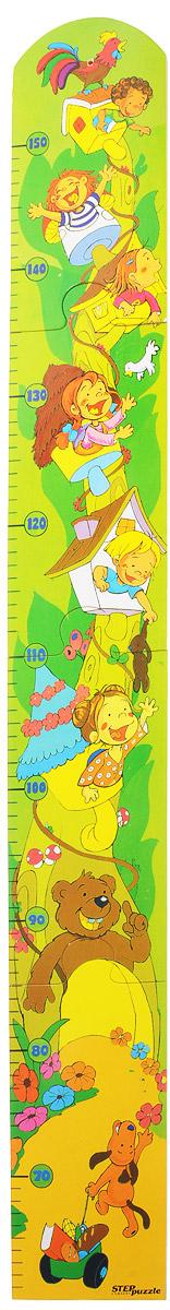 Step Puzzle Ростомер-пазл Веселые ребята89015_веселые ребятаРостомер-пазл Step Puzzle Веселые ребята - это деревянный пазл для измерения роста детей. Состоит из 4 элементов. Ростомер-пазл с забавными животными и ребятишками способствует развитию малыша (яркие картинки и занимательная сборка пазла), помогает наблюдать за ростом ребенка (простой и эффективный способ наблюдения), служит отличным украшением детской. Особенности: идеальная сцепка, экологически чистый материал, гладкие детали.
