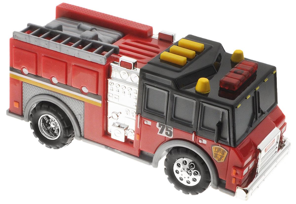 Tonka Пожарная машинкаfire/ast51296Пожарная машинка Tonka имеет очень яркий и интересный дизайн. Ее корпус выполнен в красном, сером и черном цветах, также присутствуют серебристые вставки. На автомобиле очень реалистично прорисованы дверцы и окна. Колеса машинки имеют блестящие серебристые диски. На крыше кабины имеются три желтые кнопки, а также красный проблесковый маячок. Нажав на любую из кнопок, машинка начнет издавать звуки сирены, а также заминают красные лампочки. Для работы световых и звуковых эффектов необходимы 2 батарейки типа ААА (входят в комплект).