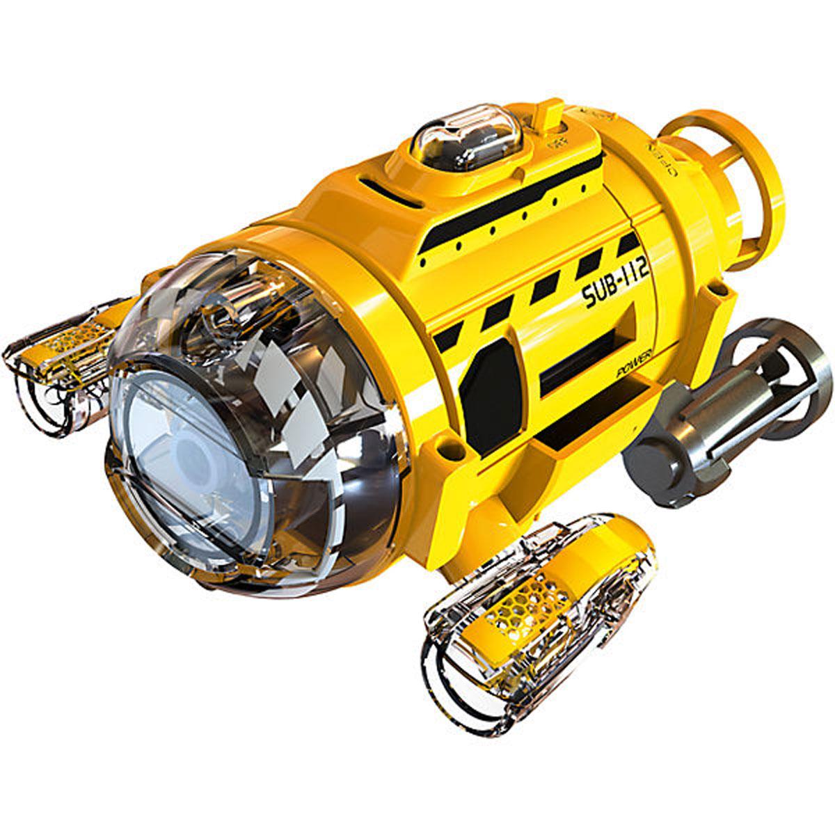 Silverlit Подводная лодка на инфракрасном управлении82418Подводная лодка на инфракрасном управлении Silverlit идеально подходит для игры в аквариуме или неглубоком водоеме с чистой водой. Подводная лодка оснащена встроенной камерой и двумя LED-фонарями. Видео и фото записываются на встроенную память размером 256 Мб. Разрешение фото: 1280 х 960. Разрешение видео: 640 х 480. Игрушка также оснащена кормушкой для рыб. Для работы игрушки необходимы 2 батарейки типа АА напряжением 1,5V (не входят в комплект). Для работы пульта управления необходимы 4 батарейки типа АА напряжением 1,5V (не входят в комплект).
