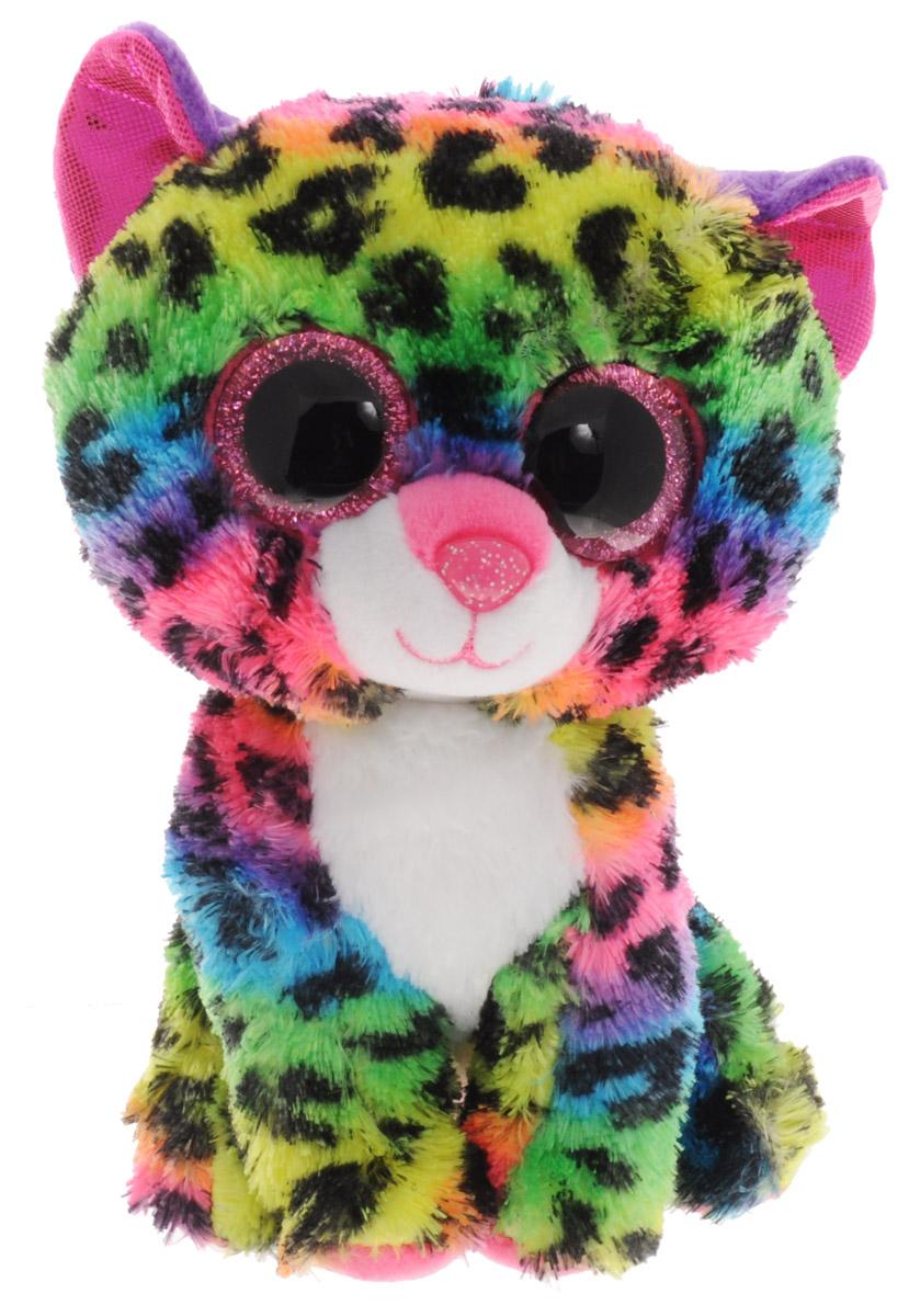 TY Мягкая игрушка Леопард Dotty 14 см37189Мягкая игрушка TY Леопард Dotty представляет собой пушистого цветного леопарда. Это необычный малыш, потому что имеет яркий окрас. Игрушка изготовлена из безопасных, приятных на ощупь материалов. Глазки и нос леопарда выполнены из пластика. Пластиковые гранулы, используемые при набивке игрушки, способствуют развитию мелкой моторики рук ребенка. Симпатичная игрушка будет радовать вашего ребенка, а также способствовать полноценному и гармоничному развитию его личности. Это отличный подарок как для любого ребенка, так и взрослого человека!