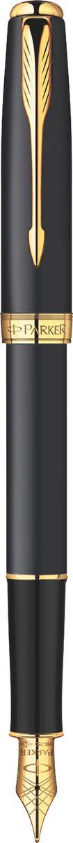 Parker Ручка перьевая Sonnet Matte Black GT чернаяPARKER-S0817930Ручка перьевая Sonnet Matte Black GT, черный матовый корпус, позолоч. детали, черн ч, перо F