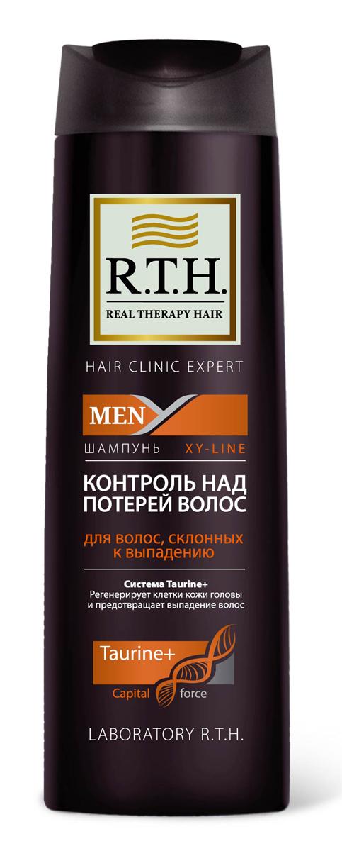 Шампунь R.T.H. Men Контроль над потерей волос4604903000202Формула шампуня обогащена системой Taurine+, которая утолщает и укрепляет стержень волоса, предотвращает процесс преждевременного выпадения волос. Комбинация витаминов PP и B6 обеспечивает регенерацию клеток кожи головы и корней волос.
