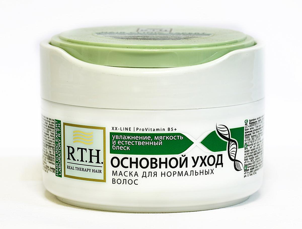 Маска R.T.H Основной уход4604903000394Оказывает глубокое увлажняющее, восстанавливающее и защитное действие. Дарит волосам необходимый уход, здоровый блеск, невероятную мягкость и эластичность. Благодаря входящим в состав натуральным полиэфирам растительного происхождения и витамину B5 маска придает волосам гладкость, предотвращая повреждение волос и предупреждая проблему секущихся кончиков и ломкости