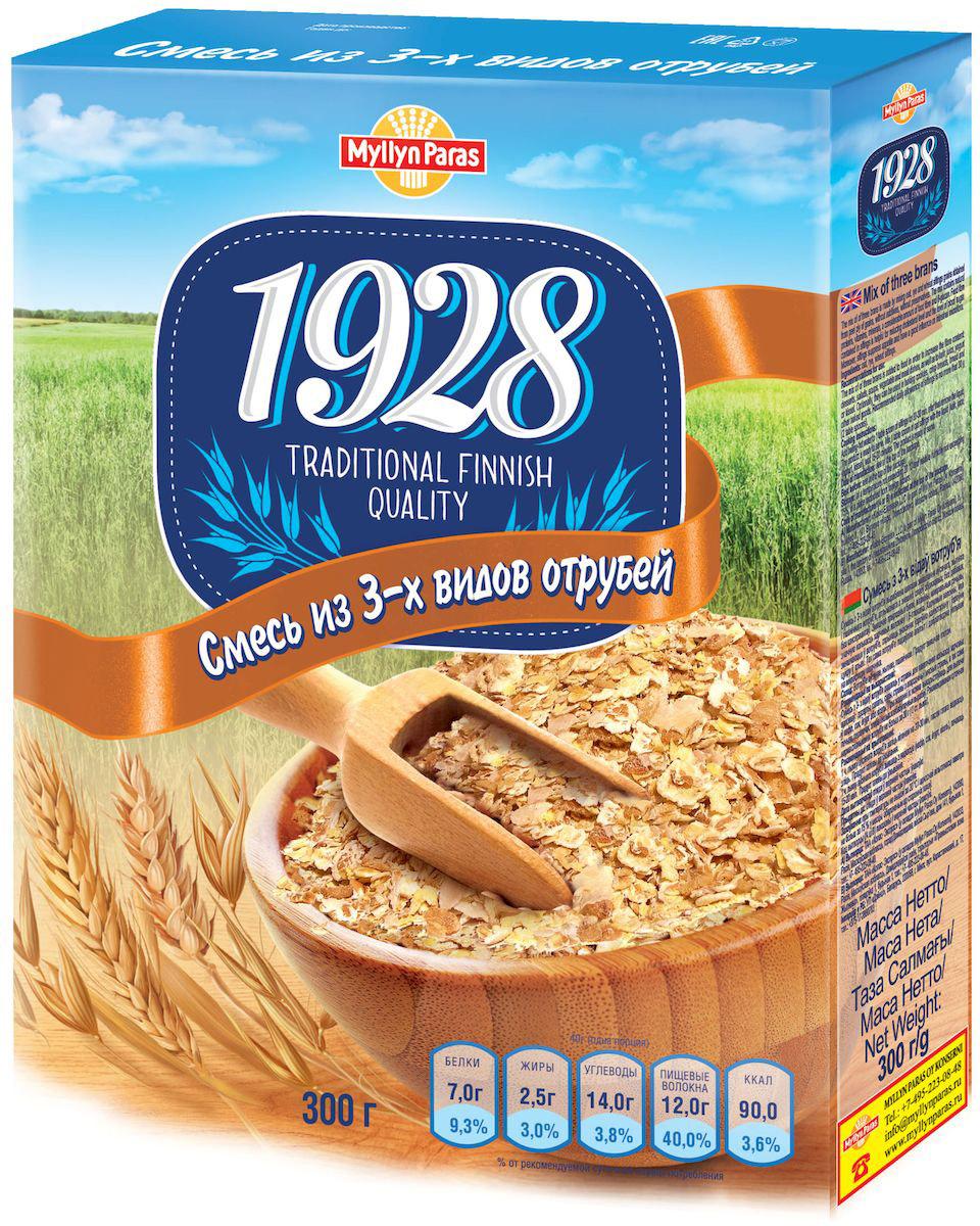 Myllyn Paras хлопья смесь из 3-х видов отрубей, 300 г1138Смесь из 3-х видов отрубей Мюллюн Парас изготовлена путем смешивания овсяных, ржаных и пшеничных отрубей. Ценность смеси из 3-х видов отрубей Мюллюн Парас заключается в содержании белков, витаминов, минеральных веществ, значительного количества пищевых волокон. 100 г. смеси из 3-х видов отрубей Мюллюн Парас содержит 30 г. пищевых волокон, т.е. в двух столовых ложках содержится примерно 6 г, что составляет 20% от рекомендованного потребления в день. Не содержит генетически модифицированные организмы.