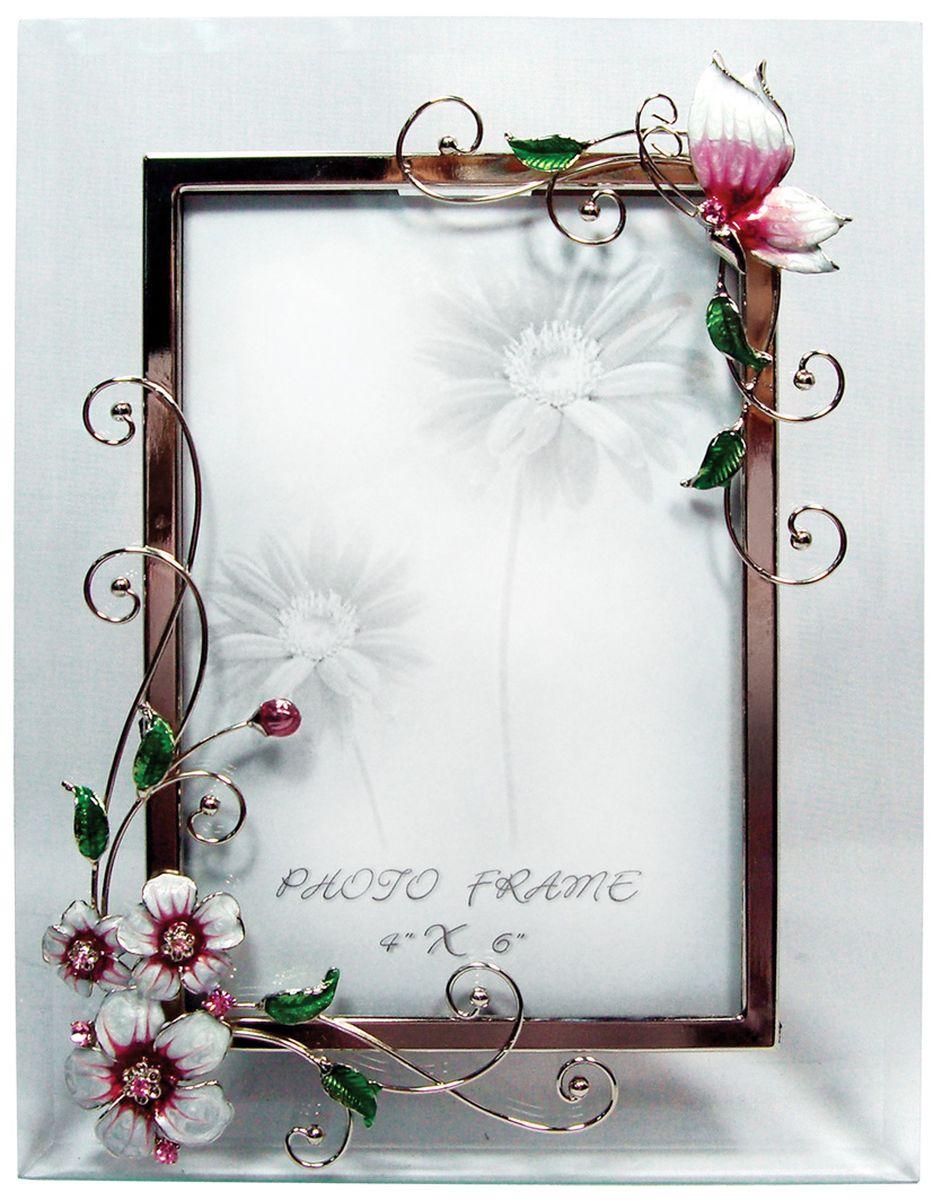 Фоторамка Jardin dEte Розовая глазурь, 18 х 23 смHS-22368Aсталь, стекло, для фото 10 х15 см