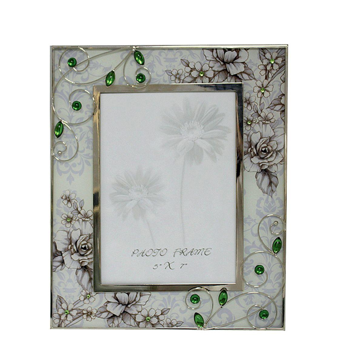 Фоторамка Jardin dEte Благородный изумруд, 21,7 х 26 смHS-25840Acталь, стекло, для фото 13х18 см