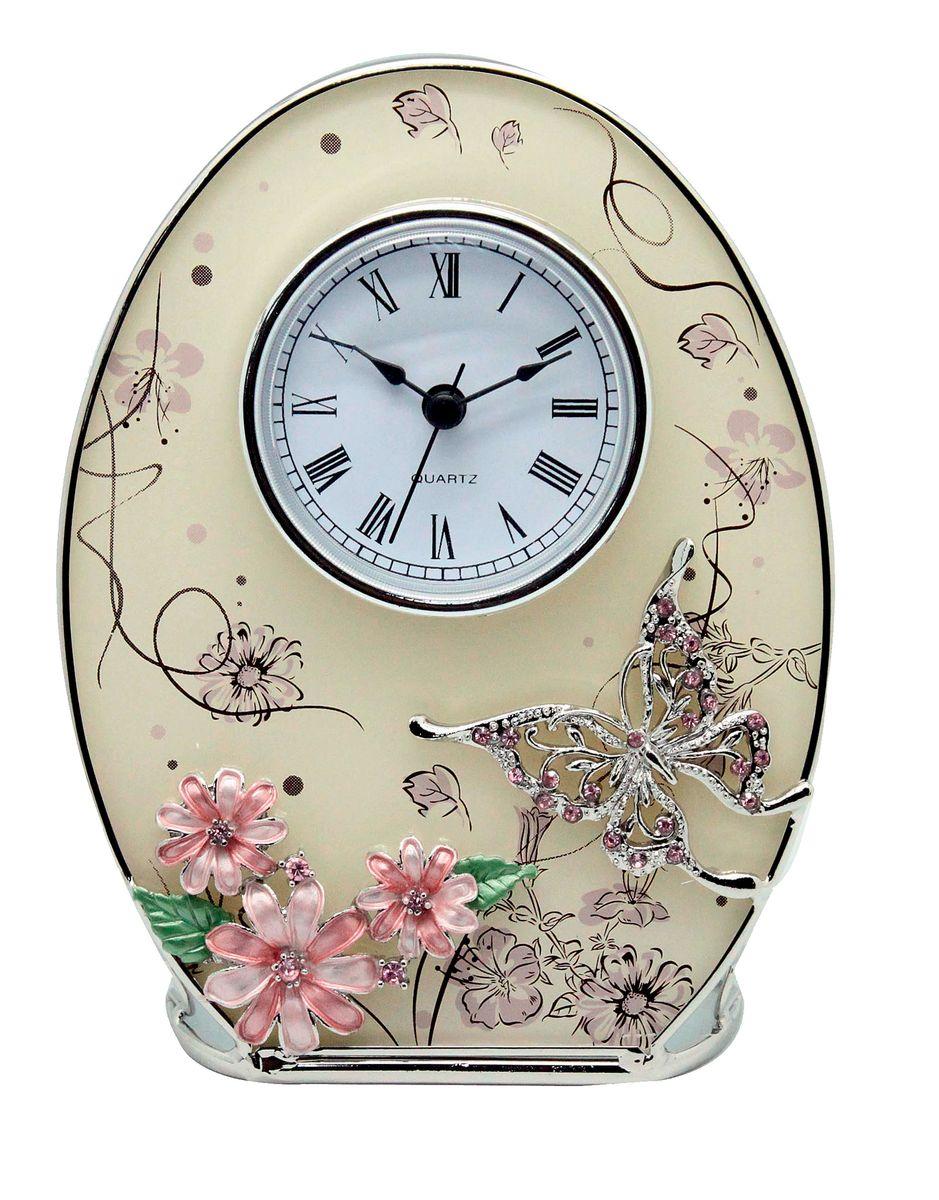 Часы настенные Jardin dEte Сиреневые сны, 16,2 х 12,5 смHS-24555Eовальные, сталь, стекло, пластик