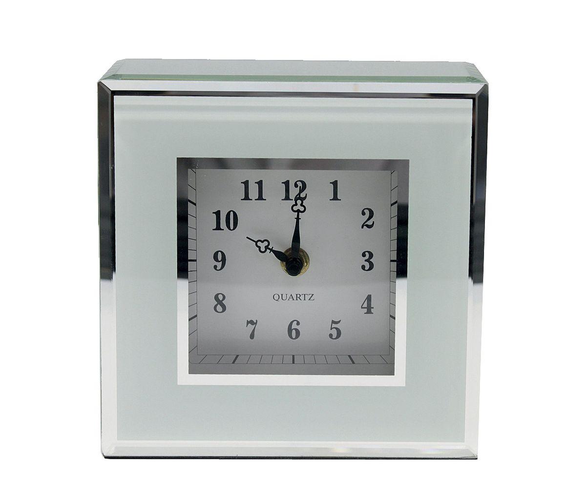 Часы настенные Jardin dEte Инь-Ян, цвет: белый, 17,5 х 17,5 смHS-25773Acталь, стекло