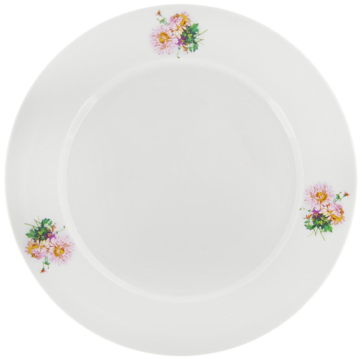 Тарелка Фарфор Вербилок Хризантема, цвет: белый, розовый, диаметр 24 см16590420Тарелка Фарфор Вербилок Хризантема, изготовленная из высококачественного фарфора, имеет классическую круглую форму. Оригинальный дизайн придется по вкусу и ценителям классики, и тем, кто предпочитает утонченность. Тарелка Фарфор Вербилок идеально подойдет для сервировки стола и станет отличным подарком к любому празднику.