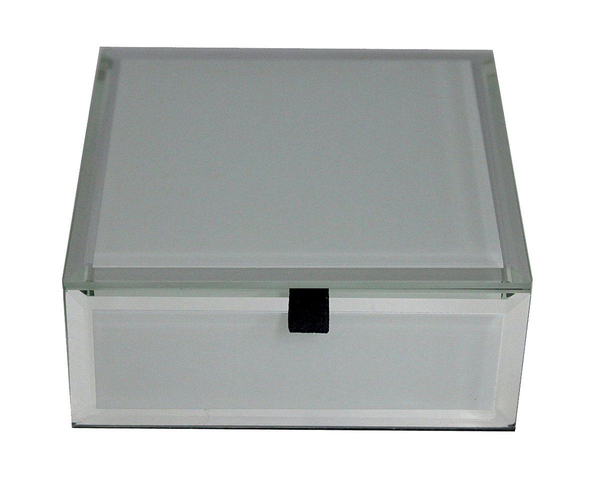 Шкатулка Jardin dEte Инь-Ян, цвет: белый, 12 х 12 х 5 смHS-25773Dcталь, стекло