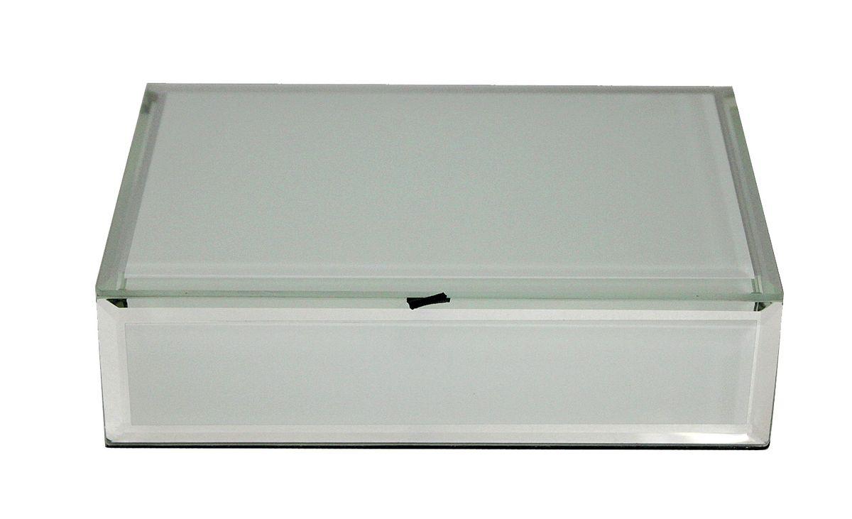 Шкатулка Jardin dEte Инь-Ян, цвет: белый, 18 х 12 х 5 смHS-25773Ccталь, стекло