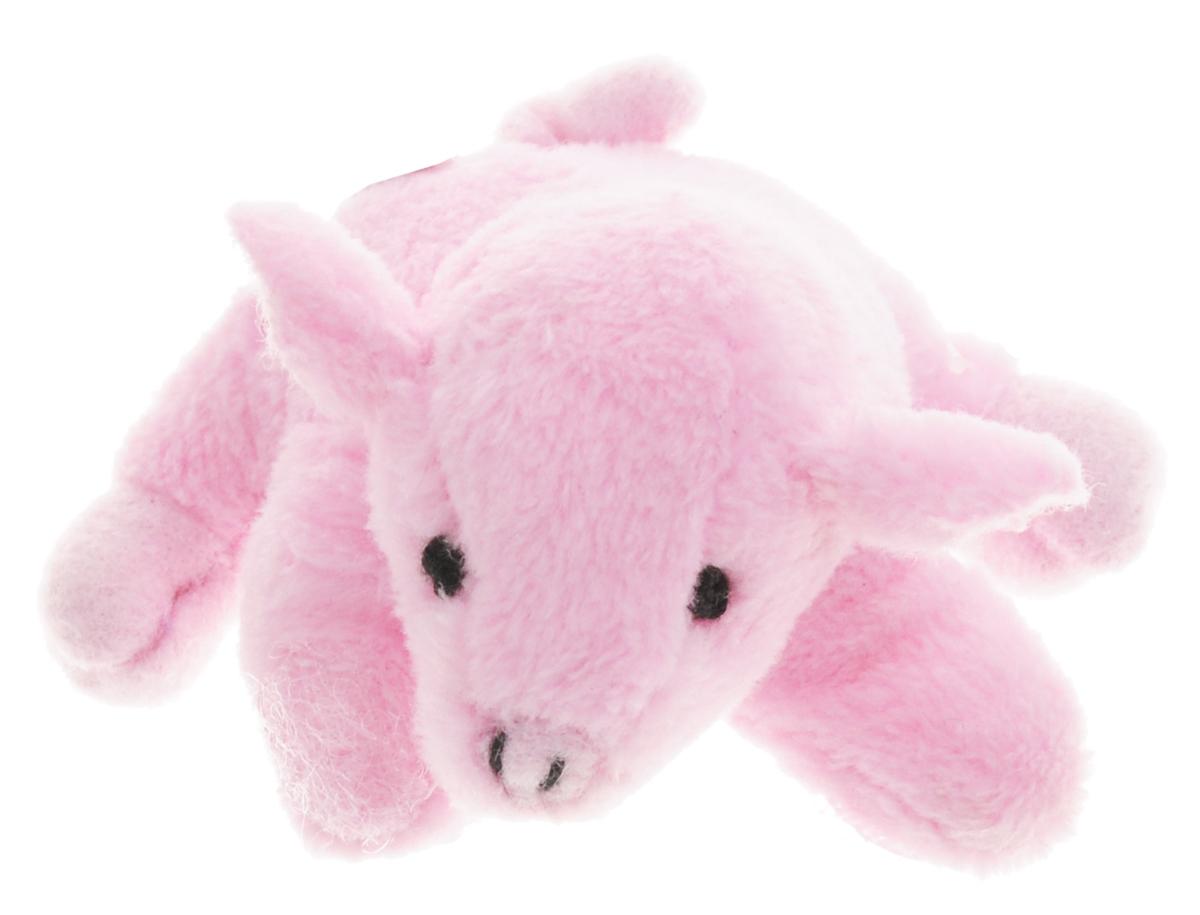 Beanzees Мягкая игрушка Свинка Pinky 5 смB31001_6_розовая свинкаСимпатичная миниатюрная мягкая игрушка Beanzees Свинка Pinky - это игрушка три в одном. Ее приятно держать в руках, увлекательно коллекционировать, а также эти игрушки можно соединять между собой с помощью липучек и носить как оригинальное украшение на шею или на руку. По легенде эти крошечные животные обитают все вместе в волшебном лесу под названием Бинзилэнд, в котором всегда ярко светит солнышко и цветут цветы. Размер игрушки 5 см, она выполнена из мягкого гипоаллергенного материала, набивка - синтетическое волокно, в том числе специальные пластиковые гранулы, делающие эту игрушку замечательным антистрессом. На лапках свинки располагаются маленькие текстильные липучки, с помощью которых игрушку можно соединять с другими.