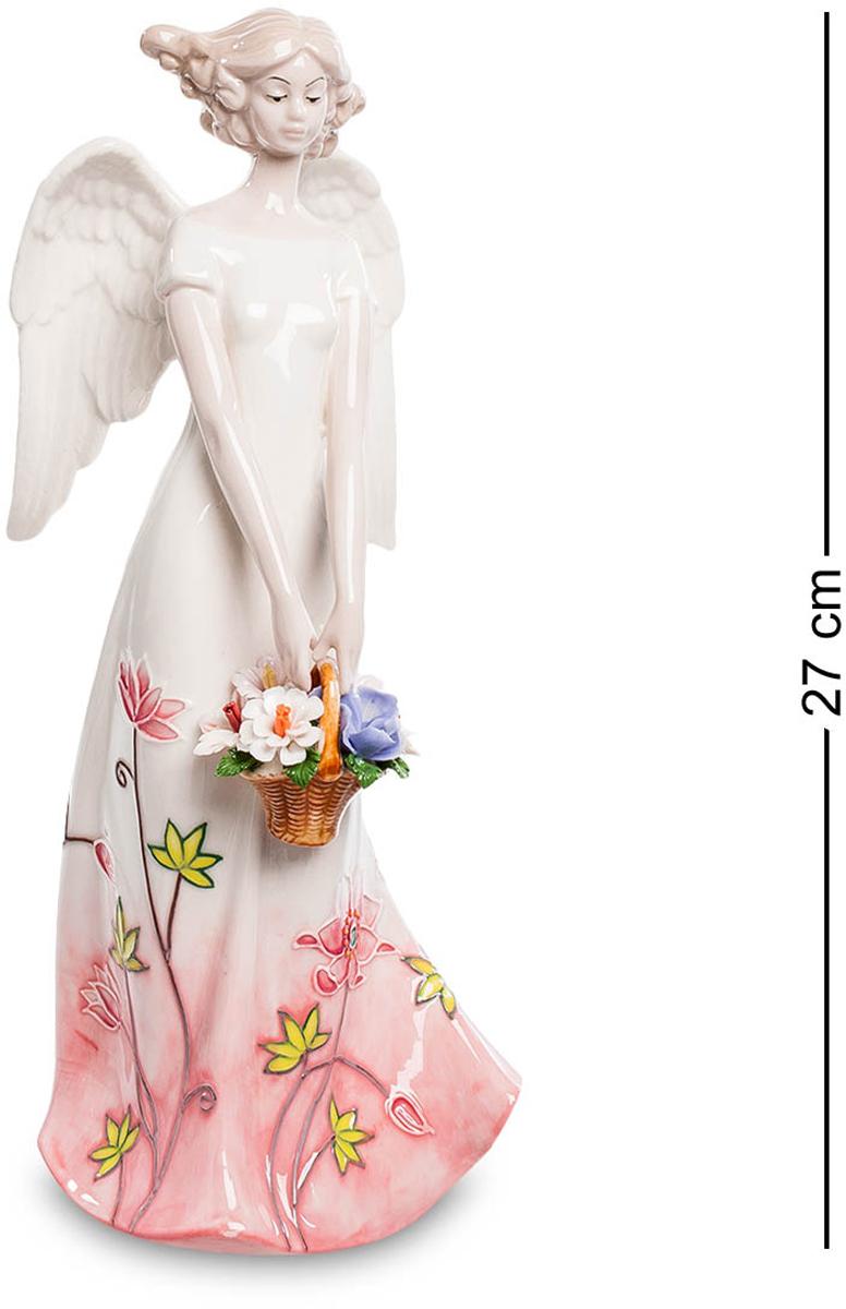 Фигурка Pavone Ангел. JP-764/ 7JP-764/ 7Фигурка Ангела высотой 27 см. Цветы - это ангелы среди растений! Безумно красивый, утонченный ангел – это статуэтка, которая поражает тонкостью и изящностью линий, удивительными превосходными деталями. Фигура ангела настолько тонкая и плавная, что просто невозможно не любоваться ею. Каждый локон прически ангела уложен нежными прядями. Прекрасными тонкими руками девушка держит корзинку с красивыми цветами, а кроме того цветы украшают подол ее легкого платья. Фигурка Девушка-ангел – просто воплощение грации и истинной красоты.