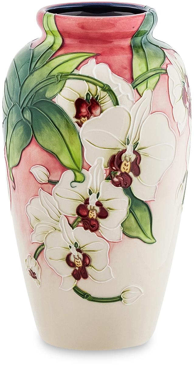 Ваза Pavone Орхидея. JP-98/ 6JP-98/ 6Дизайнерская ваза Орхидея станет гармоничным дополнением самых красивых цветочных композиций. Изготавливая эту вазу, мастер решил выразить в ней все грани своего художественного таланта. И нужно заметить, что это у него получилось на отлично. На поверхности изделия запечатлены веточки орхидей, усеянные белоснежными распустившимися бутонами. Удачное сочетание цветовых оттенков, а также искусное исполнение вазы делают это изделие отличным подарком и идеальным интерьерным украшением.