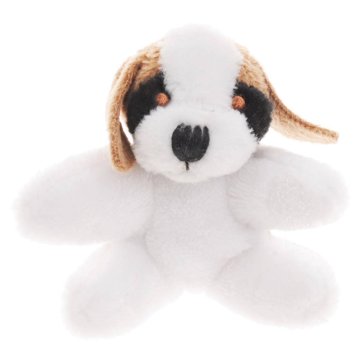 Beanzees Мягкая игрушка Собака Pepper 5 смB31001_2_белый, коричневыйСимпатичная миниатюрная мягкая игрушка Beanzees Собака Pepper - это игрушка три в одном. Ее приятно держать в руках, увлекательно коллекционировать, а также эти игрушки можно соединять между собой с помощью липучек и носить как оригинальное украшение на шею или на руку. По легенде эти крошечные животные обитают все вместе в волшебном лесу под названием Бинзилэнд, в котором всегда ярко светит солнышко и цветут цветы. Размер игрушки 5 см, она выполнена из мягкого гипоаллергенного материала, набивка - синтетическое волокно, в том числе специальные пластиковые гранулы, делающие эту игрушку замечательным антистрессом. На лапках собачки располагаются маленькие текстильные липучки, с помощью которых игрушку можно соединять с другими.