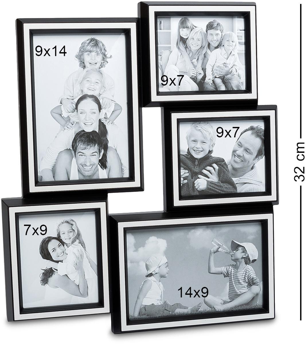 Панно из фоторамок Bellezza Casa Семейная история, на 5 фото: 10х15, 9х7, 7х9, 15х10. CHK-159CHK-159Панно из фоторамок для фотографий 10х15, 9х7, 7х9, 15х10 см. Наш мир с каждым поколением радикально меняется, меняются стереотипы поведения, модели отношений между людьми, изменяется шкала ценностей. Но лишь одно остается неизменным – семья, родители, дети. Эта традиция веками проходит через каждого человека. Фоторамка Семейная история, рассчитанная на 5 фотографий, поможет всегда помнить о своих корнях – родителях, о продолжении своего рода – наших детях. Благодаря тому, что такая фоторамка очень просто крепится к любой стене, она не займет много места, и в то же время – все семейные ценности будут всегда перед глазами. Теперь можно не расставаться со своей семьей даже на работе. Кроме того, такая рамка – это отличный подарок на юбилей или день рождения, День Влюбленных или Новый год. Ничто ни ценится так дорого – как семья и близкие сердцу родные люди.